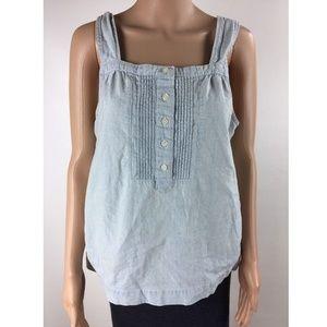 J Crew Casual Sleeveless Shirt Top Women's Blue